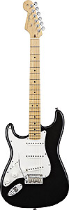 Fender American Standard Stratocaster Left Handed - Black with Case - Maple [0113022706]