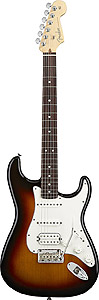 American Standard Stratocaster HSS - 3-Color Sunburst with Case - Rosewood