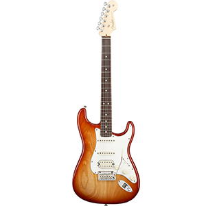 American Standard Stratocaster HSS - Sienna Sunburst with Case - Rosewood