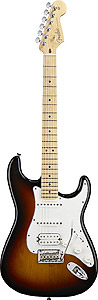 American Standard Stratocaster® HSS - 3-Color Sunburst with Case - Maple