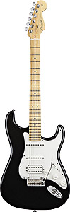 American Standard Stratocaster® HSS - Black with Case - Maple