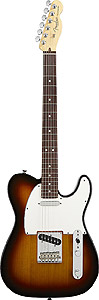 American Standard Telecaster - 3-Color Sunburst with Case - Rosewood
