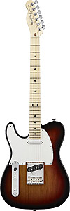 American Standard Telecaster® Left Handed - 3-Color Sunburst with Case - Maple