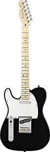 American Standard Telecaster Left Handed - Black with Case - Maple