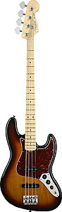 American Standard Jazz Bass - 3-Color Sunburst with Case - Maple