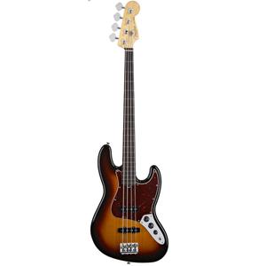 American Standard Jazz Bass Fretless - 3-Color Sunburst - Rosewood