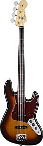 American Standard Jazz Bass Fretless - Black with Case - Rosewood