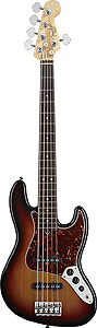 American Standard Jazz Bass V - 3-Color Sunburst with Case - Rosewood