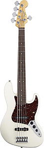 American Standard Jazz Bass® V - Olympic White with Case - Rosewood