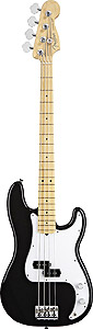 Fender American Standard P Bass - Black with Case - Maple