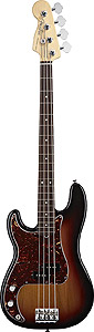 American Standard P Bass Left Handed - 3-Color Sunburst with Case - Rosewood