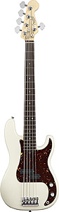 American Standard Precision Bass V - Olympic White with Case - Rosewood