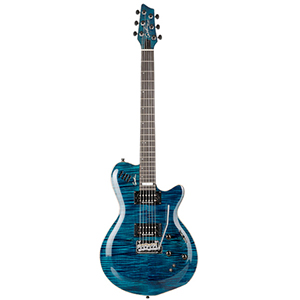 Godin LGXT AA Flamed Maple Top - Transparent Blue