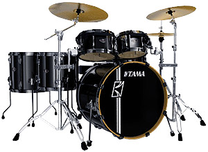Tama Superstar Hyper Drive 4-Piece Drum Kit - Brushed Metallic Black [SK44HZBNBMB]
