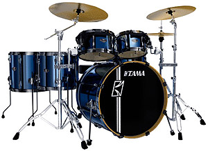 Tama Superstar Hyper Drive 4-Piece Drum Kit - Brushed Vintage Blue [SK44HZBBVB]