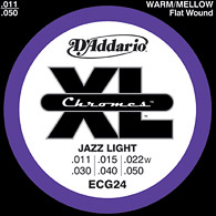 Daddario ECG24 - Chrome Jazz Light