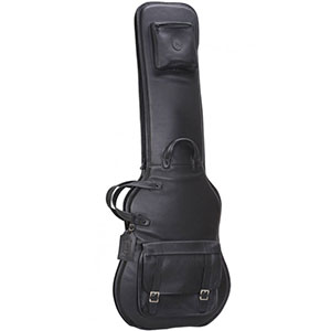 LM19 Premium Leather Bass Guitar Bag