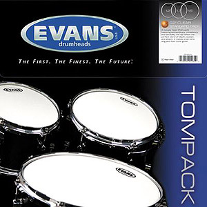 Evans G2 Clear Standard Tom Pack