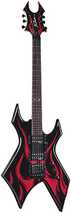 BC Rich Kerry King Wartribe - Black with Red