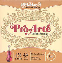 Daddario J56 Violin Strings 4/4 Medium [J56]