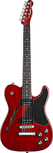 JA-90 Telecaster Thinline - Crimson Transparent