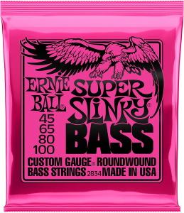 Ernie Ball 2834 Bass Super Slinky Round Wound .045-.100