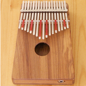 Hugh Tracey Treble Kalimba with Internal Mic Pickup []