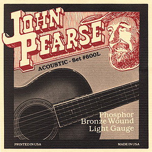 John Pearse 600L Acoustic Phosphor Bronze Light