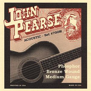 John Pearse 700M Acoustic Phosphor Bronze Med [700M]