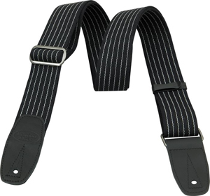 Reunion Blues Merino Wool Guitar Strap - Pinstripe with Black Leather Tabs [RBS-28PS]