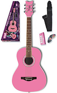 Daisy Rock Debutante Jr. Miss Acoustic Starter Pack - Bubble Gum Pink
