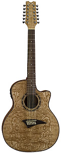 Dean Exotica Quilted Ash 12-String - Gloss Natural [eqa12]