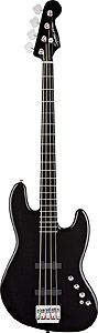 Squier Deluxe Jazz Bass Active - Black Ebonol