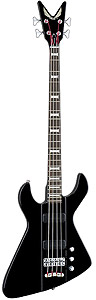 Dean Demonator 4 Bass - Black/Chrome with Case [DEMONATOR 4 BKCR]