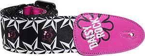 Daisy Rock Guitar Strap - Pink Skulls