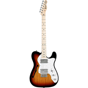 Fender 72 Telecaster Thinline - 3-Color Sunburst with Gig Bag