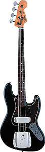 American Vintage 62 Jazz Bass® - Black with Case