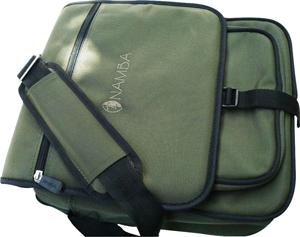 Shaka Laptop Messenger Bag - Olive Green/Bronze