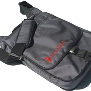 Kava Laptop Studio Messenger - Charcoal Grey/Red