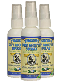 Thayers Dry Mouth Vocal Spray - Peppermint 3 Pack