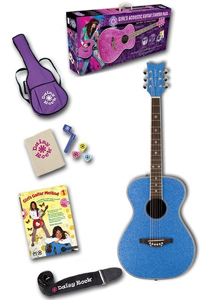 Daisy Rock Pixie Acoustic Starter Pack - Blue Sparkle [14-6217]