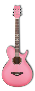 Daisy Rock Wildwood Artist Left Handed 6-String Guitar - Pink Burst [14-6270L]