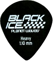 Planet Waves Black Ice Pick Pack Heavy Gauge [3DBK6-10]