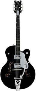 G6136SLBP Brian Setzer Black Phoenix - Black with Silver Trim