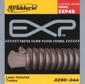 Daddario EXP45 Classical Gutiar Coated Nylon Strings [exp45]