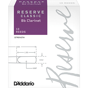 Reserve Classic Bb Clarinet Reeds - 2.0