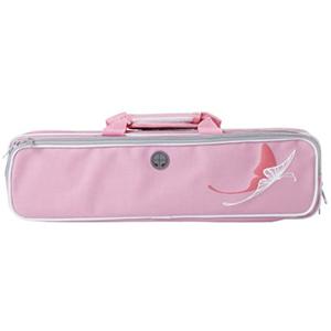 Kaces Grafix Polyfoam Flute Case - Pink Butterfly