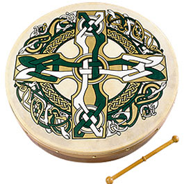 18-inch Bodhran - Celtic Cross