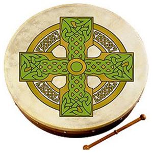 Waltons 18-inch Bodhran - Cloghan Cross