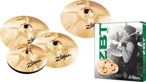 Zildjian ZBT 4 Pro Cymbal Pack with Free Rock Crash [ZBTr4P-9a]